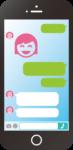 スマートフォンのLINE画面